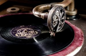 antique turntable record player